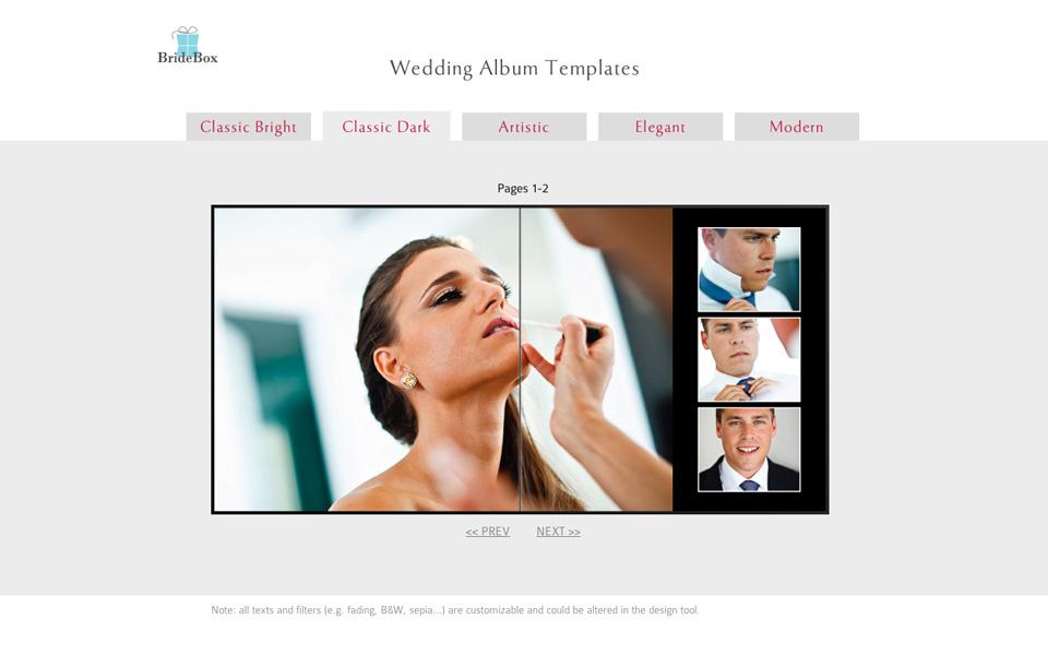 Flush Mount Albums Mounted Wedding Photo